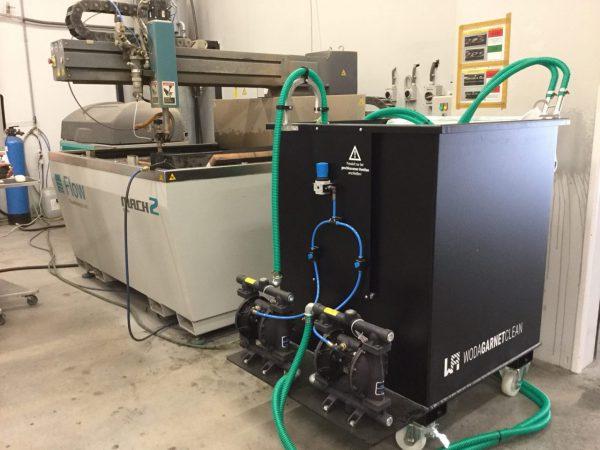 Abrasive removal system WodaGarnetClean